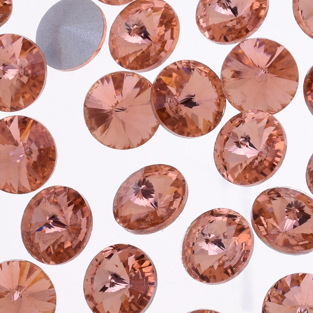 12mm Pointed Back Rhinestone  crystal stone Satellite stone Clear Handmade jewelry Accessories decoration pink 50pcs 10181854