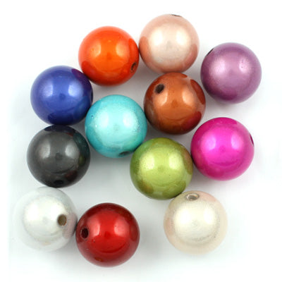 Top Quality 10mm Round Miracle Beads,Mix colors,Sold per pkg of about 1000 Pcs