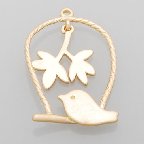 2013-2014 Fashion 29*19MM lovely modern charms,Birdcage,Matte Gold,suit for necklace/bracelet/earring ect,sold 10pcs per pkg