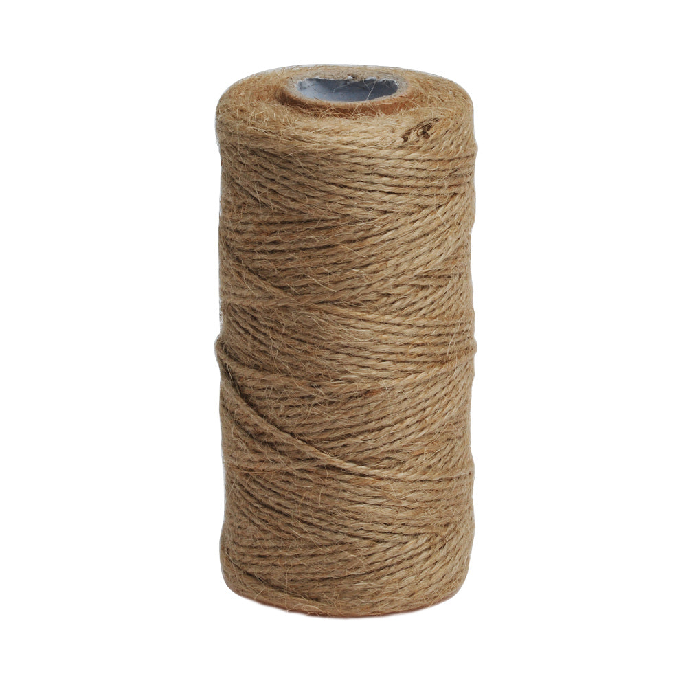 100m/Roll Jute Twine Cords,Jute Twine String,Natural Jute Twine Ropes DIY Supplies,Fine Linen,Packing Rope,1 Roll/Lot