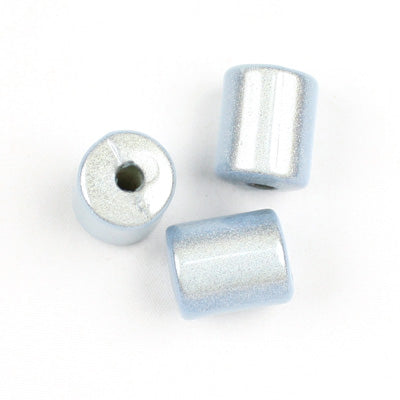 Top Quality 8 x 10 MM Tube Miracle Beads,Ice Blue,Sold per pkg of about 1100 Pcs