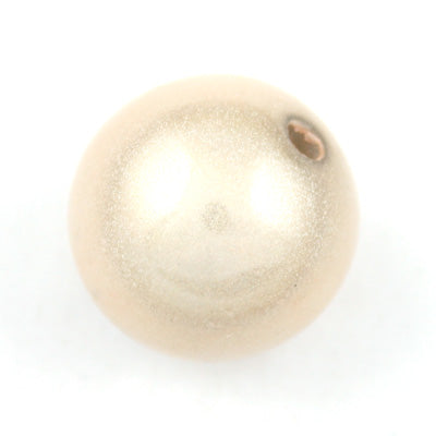 Top Quality 20mm Round Miracle Beads,Cream,Sold per pkg of about 120 Pcs