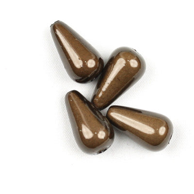 Top Quality 6*10mm Teardrop Miracle Beads,Deep Coffee,Sold per pkg of about 2800 Pcs