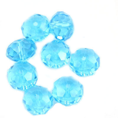 10 MM Rondelle,Sapphire,Handmade Cut Glass Crystal Beads