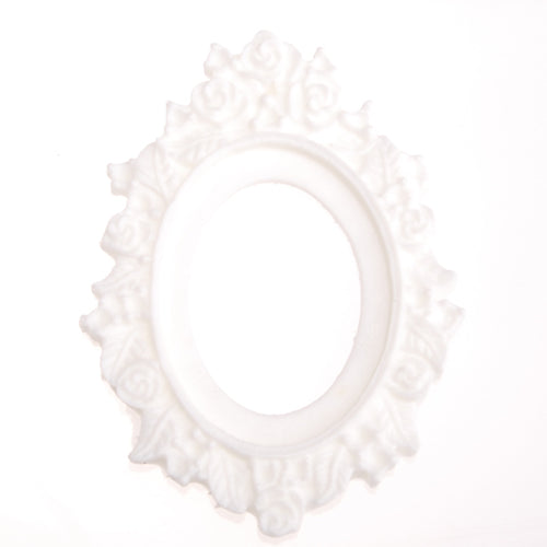 30*40MM Oval Resin cameo setting,Ivory white;for 30*40mm Cabochon/Picture/Cameo;sold 20pcs per pkg