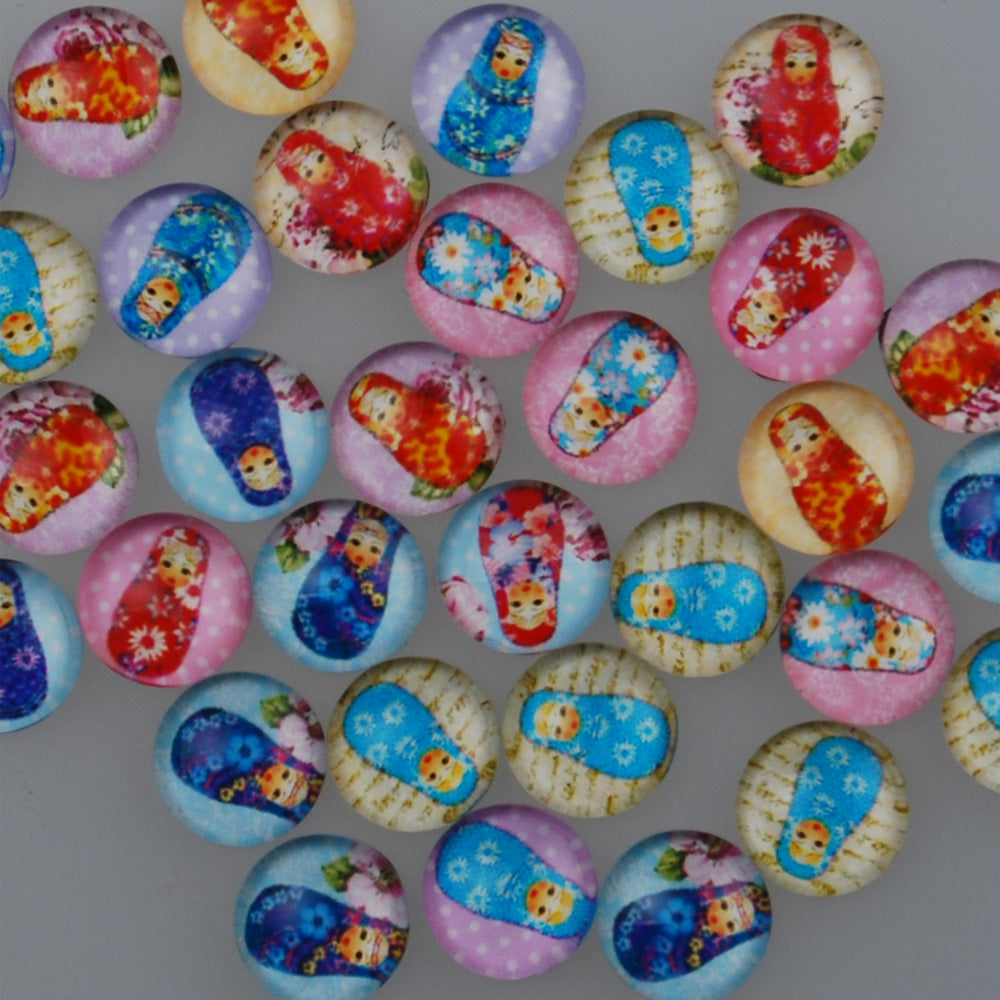 10MM Round glass cabochons with mixed Baby girls,Photo glass cabochons,flat back,thickness 4mm,50 pieces/lot