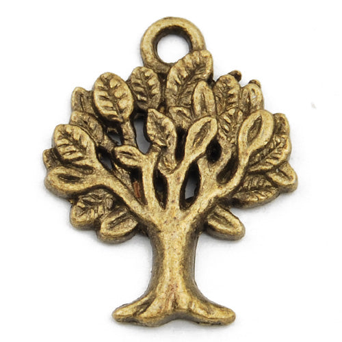21*17mm Vintage antique bronze Zinc alloy Charms,tree,sold 200 pcs per pkg