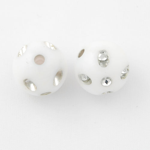 12 MM Plastic Beads with diamond,Sold per pkg of 600 PCS
