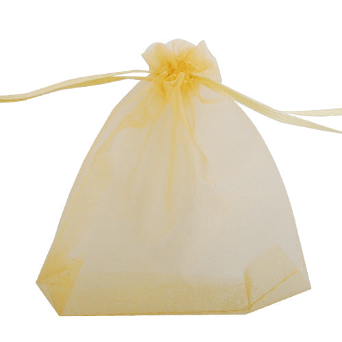100*120 MM Gold Organza Jewelry Gift Pouch Bags ,Sold 100 PCS Per Lot, Great For Wedding Favors, Sachets, Beads, Jewelry and so on
