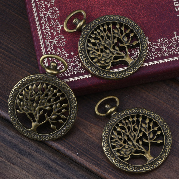 38*48mm Antique Bronze Pocket Watch Pendant,Tree of Life Pendant,Steampunk Pendant,Necklace Pendant,sold 10pcs/lot