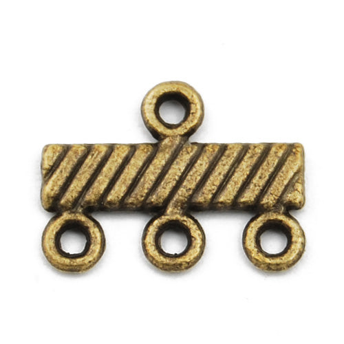 Casting Design Connectors,Antique Bronze Plated,14*10MM,Sold 200 pcs per pkg