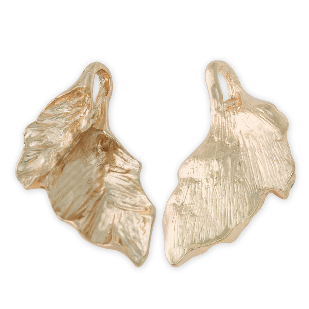 20 Gold 3.1*1.7 cm Charm Alloy Leafs Metal Pendant accessories Jewelry findings Diy Handmade Pendants