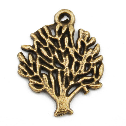 20*16mm Vintage antique bronze Zinc alloy Charms,tree,sold 200 pcs per pkg