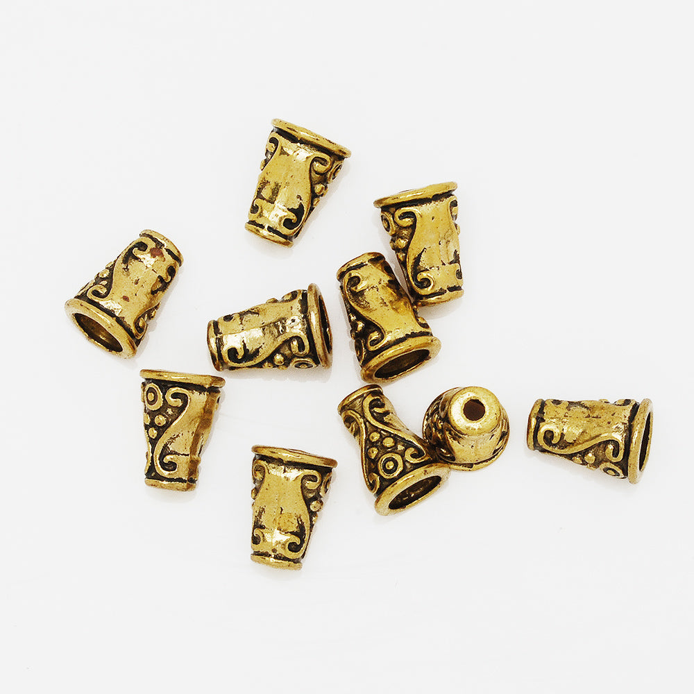 10 mm Antique Gold Bead Caps,Charm Beads Cap,Buddhism Jewelry Findings,Diy Jewelry Findings,sold 100pcs/lot