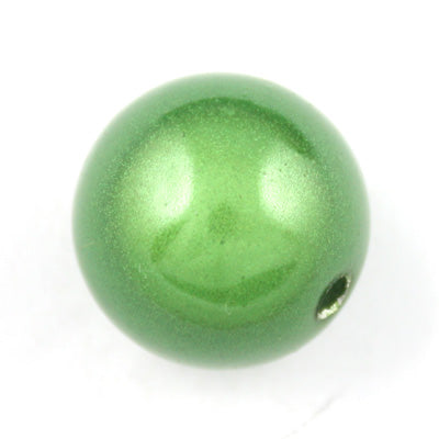 Top Quality 25mm Round Miracle Beads,Green,Sold per pkg of about 60 Pcs