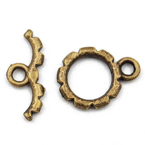 Casting Toggle Clasp,Anqitue Bronze plated,14MM*20MM,Sold 200 sets per pkg