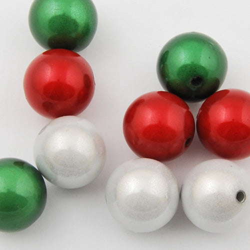 30mm Christmas mixed package miracle beads,sold about per pkg of 37 pcs