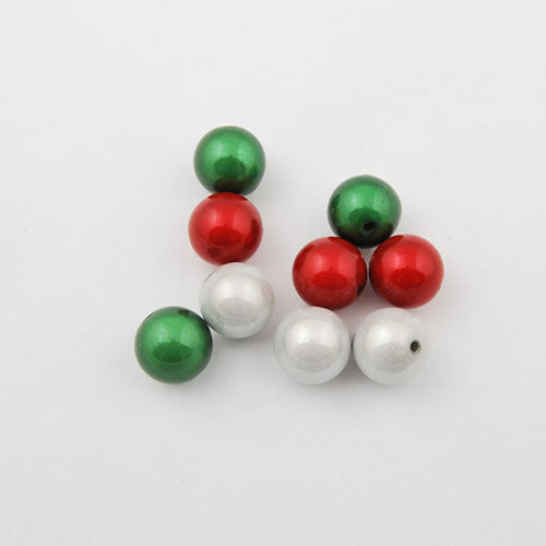 8mm Christmas mixed package miracle beads,sold about per pkg of1850 pcs