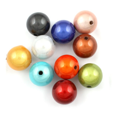 Top Quality 16mm Round Miracle Beads,Mix colors,Sold per pkg of about 250 Pcs