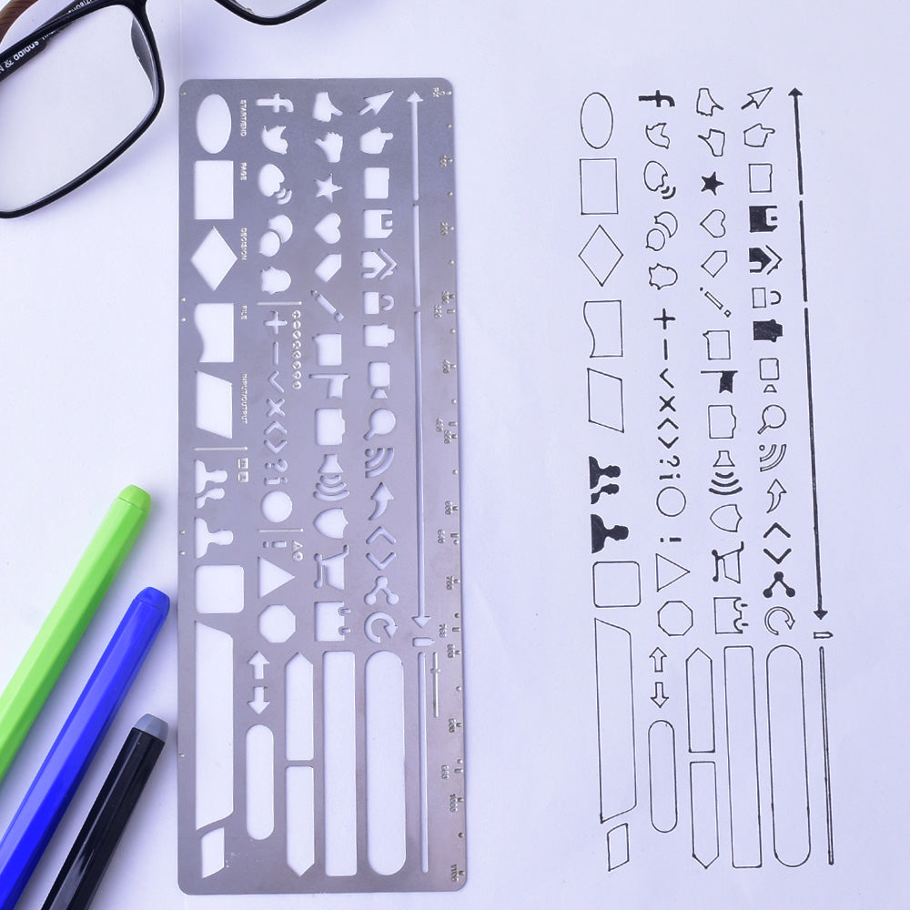 "About  2 1/2x7"" Stainless Steel bullet journal stencil Drawing Stencil Stencil planner supplies Stencil Template 1pcs"