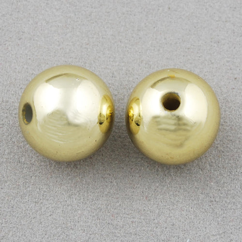 12 MM Coated Beads,Gold,Sold per by one package of 550 PCS