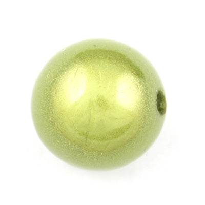 Top Quality 25mm Round Miracle Beads,Green Yellow,Sold per pkg of about 60 Pcs