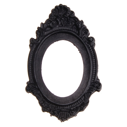 30*40MM Oval Resin cameo setting,Black;for 30*40mm Cabochon/Picture/Cameo;sold 20pcs per pkg