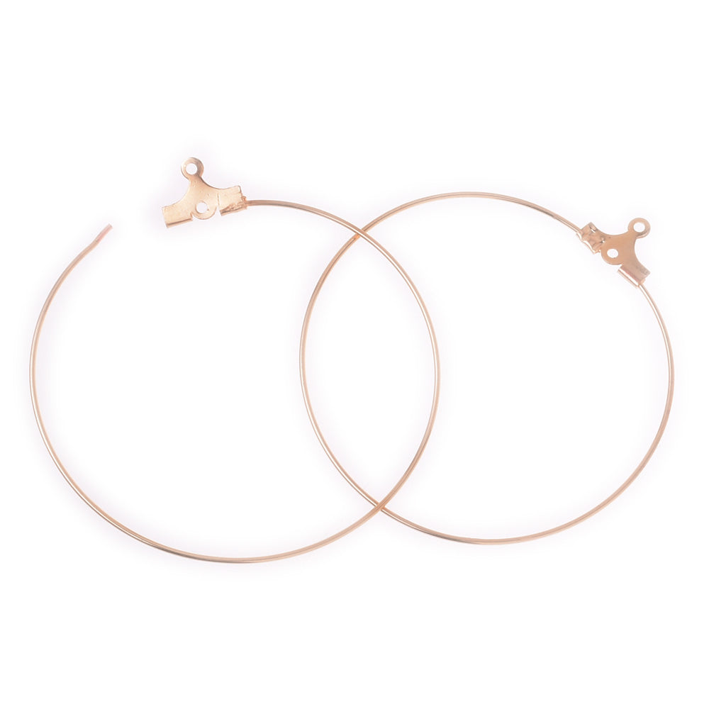 Clip-on Earrings Clip Hoop Earrings hammered hoop earrings Jewelry gift supplies 4cm gold 20pcs 10178604
