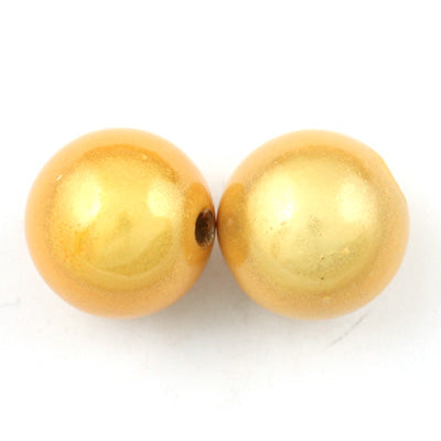 Top Quality 16mm Round Miracle Beads,Light Topaz,Sold per pkg of about 250 Pcs
