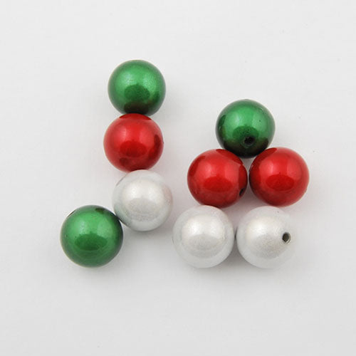 14mm Christmas mixed package miracle beads,sold about per pkg of350 pcs
