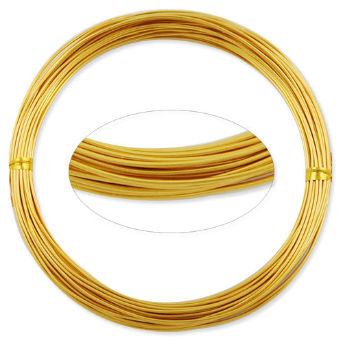 1MM Anodized Aluminum Wire, Light yellow Coated, round,10M/coil,Sold Per 10 coils