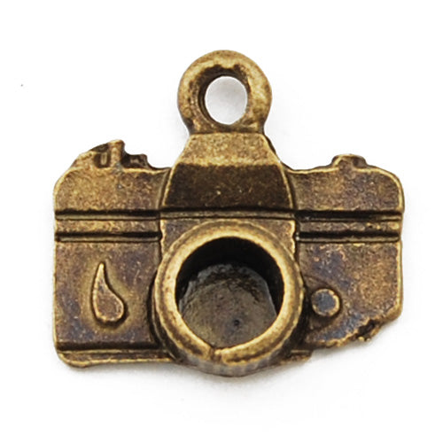 15*14mm Vintage antique bronze Zinc alloy Charms,camera,sold 200 pcs per pkg