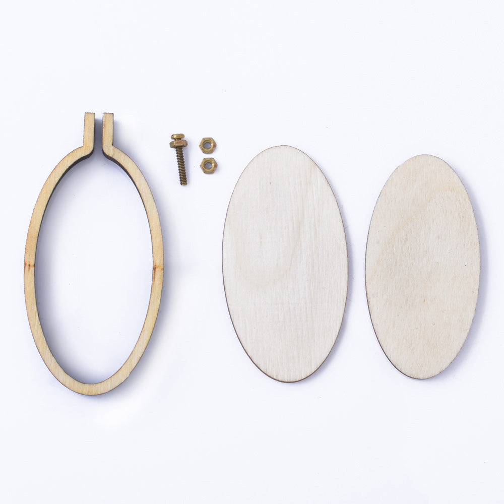 60*30mm oval (vertical) Mini Embroidery Hoop Lasercut Frame Cross Stitch Frame Tiny Embroidery Pendant Tiny Hoop diy Embroidery Pendant 1pcs