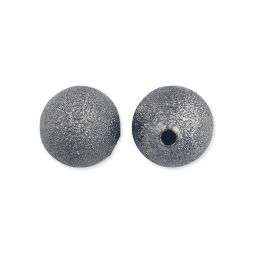 10 MM Round Stardust Beads,Gun Metal Black Plated,Hole Size:2 MM,Sold 100 PCS Per Package