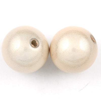 Top Quality 18mm Round Miracle Beads,Cream,Sold per pkg of about 170 Pcs