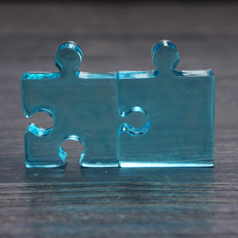 1 pcs Jigsaw Puzzle Piece Mold Friendship Necklace DIY Mold Silicone Mould Jewellery Making
