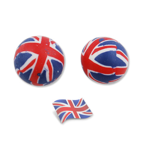 12MM Round UK Flag Beads,Sold 200PCS Per Package