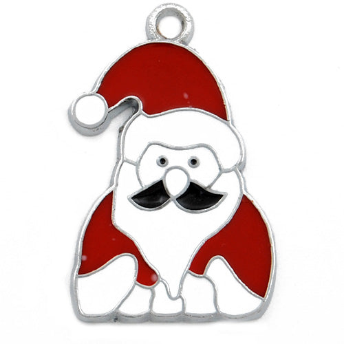 The Santa Claus Enamel Charms,red,height 31mm,width 20mm,thick 1.9mm,Sold 20 PCS Per Package