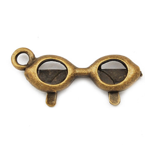 25*10mm Vintage antique bronze Zinc alloy Charms,glasses,sold 200 pcs per pkg