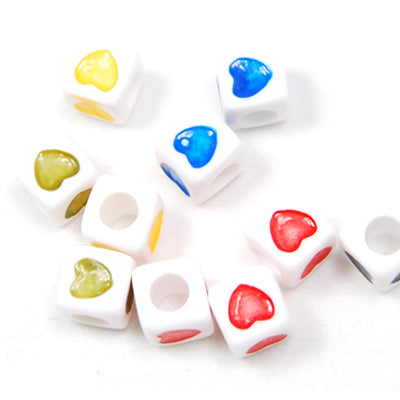 7*7MM Cube Alphabet Beads Acrylic Mixed Alphabet,Sold per PKG of 2000 PCS
