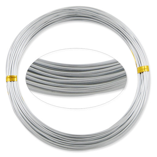1MM Anodized Aluminum Wire, Silver Coated, round,10M/coil,Sold Per 10 coils