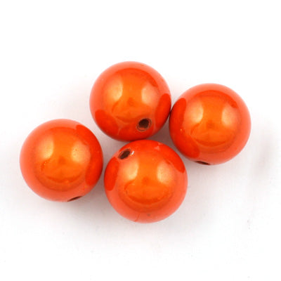Top Quality 6mm Round Miracle Beads,Orange,Sold per pkg of about 5000 Pcs