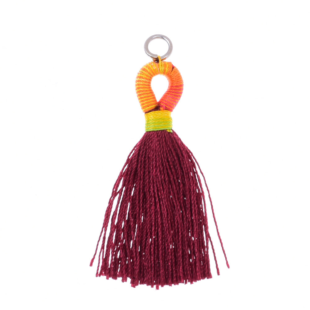 5cm  Pantone colors Tassels Necklace Earrings Tassel for jewelry making Deep red dates ,10pcs/lot