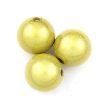 Top Quality 10mm Round Miracle Beads,Light Yellow,Sold per pkg of about 1000 Pcs