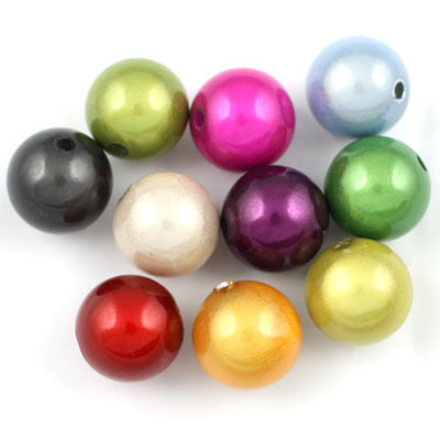 Top Quality 12mm Round Miracle Beads,Mix colors,Sold per pkg of about 560 Pcs