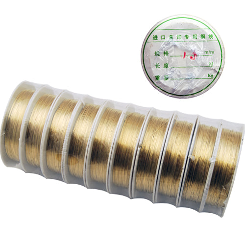 10M/Roll,0.5MM Thick Soft Brass Wire,Golden ,Sold 10 Rolls Per Lot