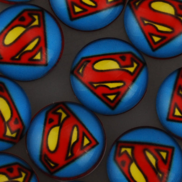 18MM Round Glass Cabochons,Superhero DC Comics Pattern Glass Cabochons,Flat Back,thickness 5mm,Sold 50 pieces/lot