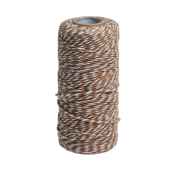 (100 Yards/spool) Light Coffee Bakers Twine Colored Cotton Twine,Gift Wrapping Divine Twines,sold 1 Pcs/lot