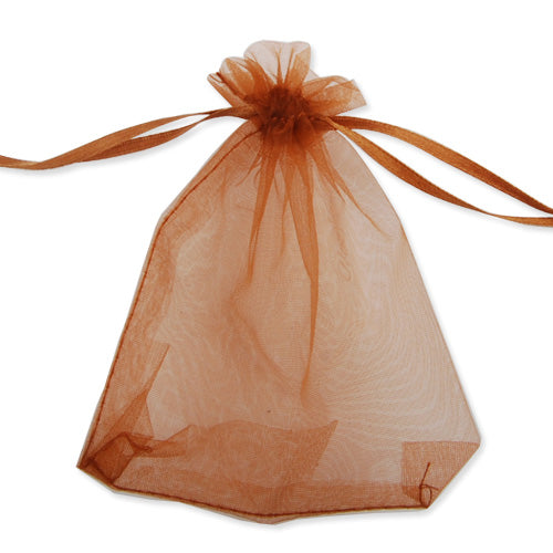 100*120 MM Coffee Organza Jewelry Gift Pouch Bags ,Sold 100 PCS Per Lot, Great For Wedding Favors, Sachets, Beads, Jewelry and so on