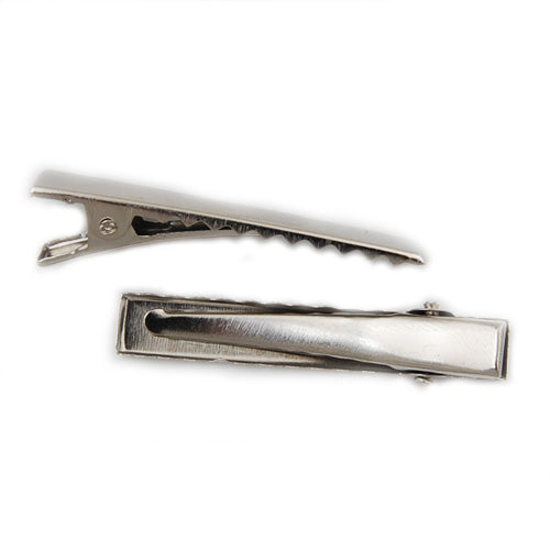 200 PCS 45*7.7 MM  Silver Prong Flat Alligator Metal Hair Clip